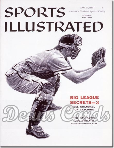 1958 Sports Illustrated   April 21  -  Del Crandall Milwaukee Braves