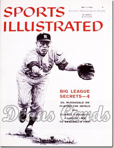 1958 Sports Illustrated - With Label   May 5  -  Gil McDougald (New York)
