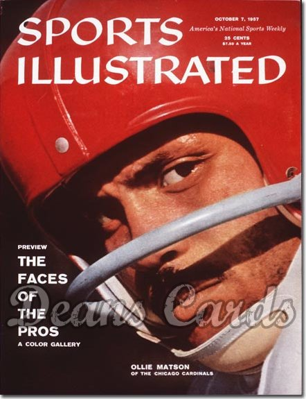 1957 Sports Illustrated   October 7  -  Ollie Matson (Chicago Cardinals)