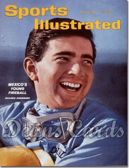1962 Sports Illustrated - With Label   March 26  -  Ricardo Rodriguez