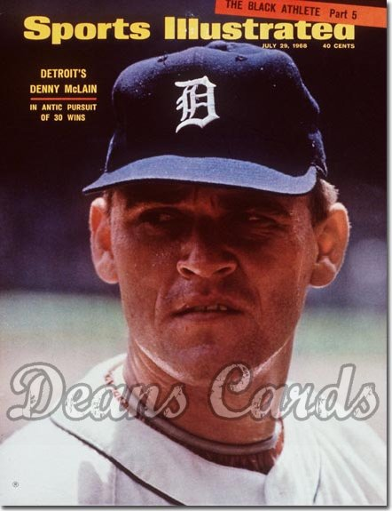 1968 Sports Illustrated - No Label   July 29  -  Denny McLain (Detroit Tigers)