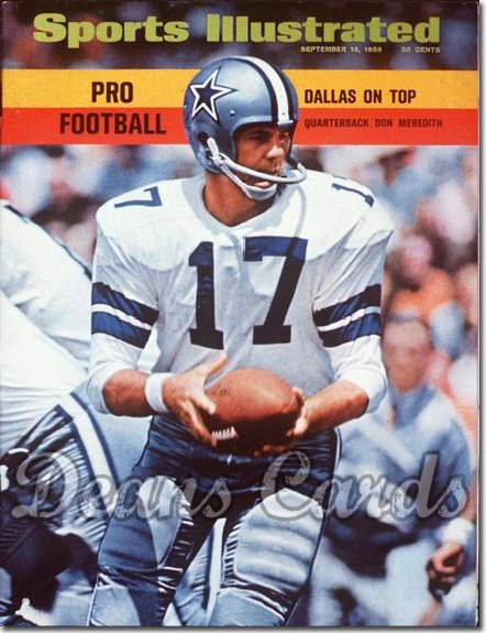 1968 Sports Illustrated - With Label   September 16  -  Don Meredith (Dallas)
