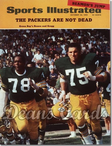 1968 Sports Illustrated - With Label   October 28  -  Forrest Gregg / Bob Brown (Green Bay)