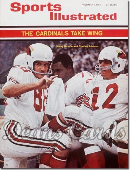 1965 Sports Illustrated   November 1  -  Charley Johnson & Sonny Randle St. Louis Cardinals