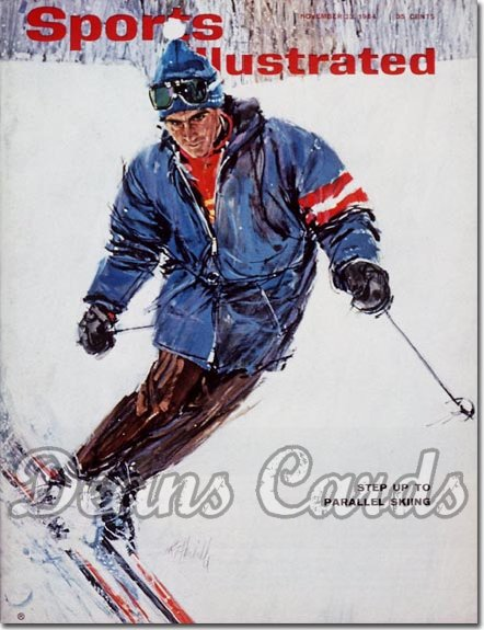 1964 Sports Illustrated - With Label   November 23  -  Helmut Falch (Skiing / Skier)