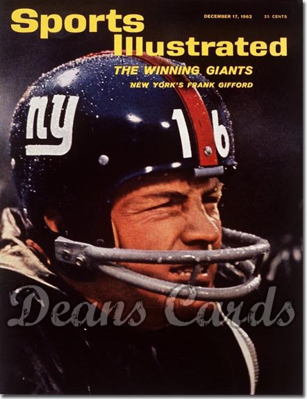 1962 Sports Illustrated - With Label   December 17  -  Frank Gifford New York Giants
