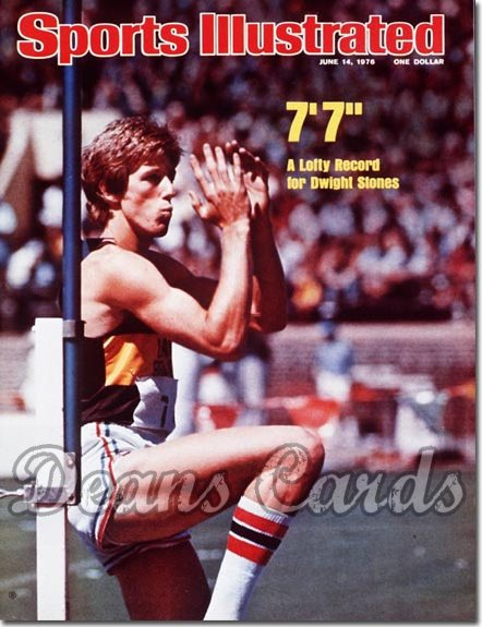 1976 Sports Illustrated - No Label   June 14  -  Dwight Stones (High Jump)