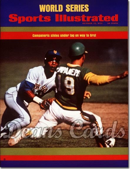 1973 Sports Illustrated - With Label   October 22  -  Bert Campaneris (Oakland A's)