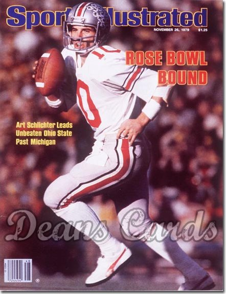 1979 Sports Illustrated - With Label   November 26  -  Art Schlichter Ohio State Buckeyes