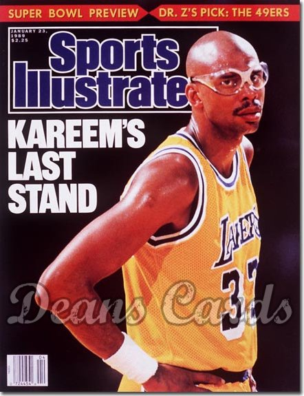 1989 Sports Illustrated - With Label   January 23  -  Kareem Abdul
