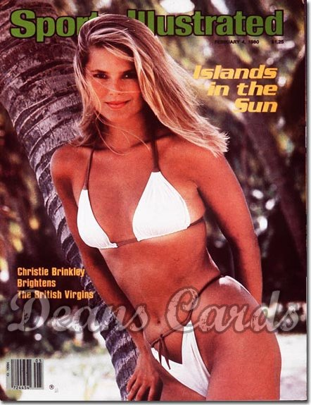 1980 Sports Illustrated - With Label   February 4  -  Christie Brinkley Swimsuit Issue