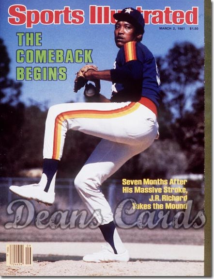 1981 Sports Illustrated - With Label   March 2  -  J.R. Richard (Houston Astros)
