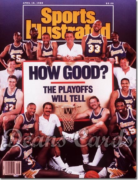 1988 Sports Illustrated - With Label   April 18  -  Los Angeles Lakers Team