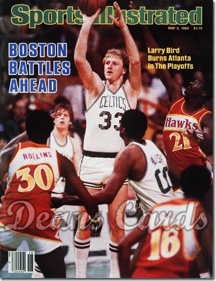 1983 Sports Illustrated - With Label   May 2  -  Larry Bird (Boston Celtics)