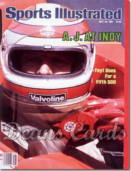 1981 Sports Illustrated - With Label   May 25  -  A.J.Foyt (Indy500)