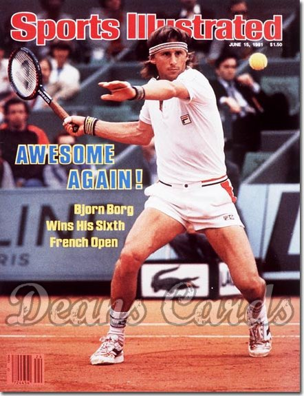 1981 Sports Illustrated - With Label   June 15  -  Bjorn Borg