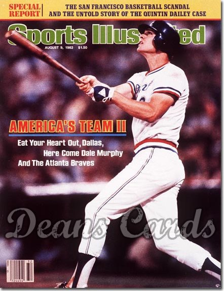 1982 Sports Illustrated - With Label   August 9  -  Dale Murphy (Atlanta Braves)