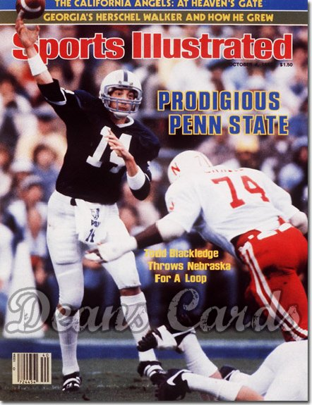 1982 Sports Illustrated - With Label   October 4  -  Todd Blackledge (Penn State Nittany Lions)