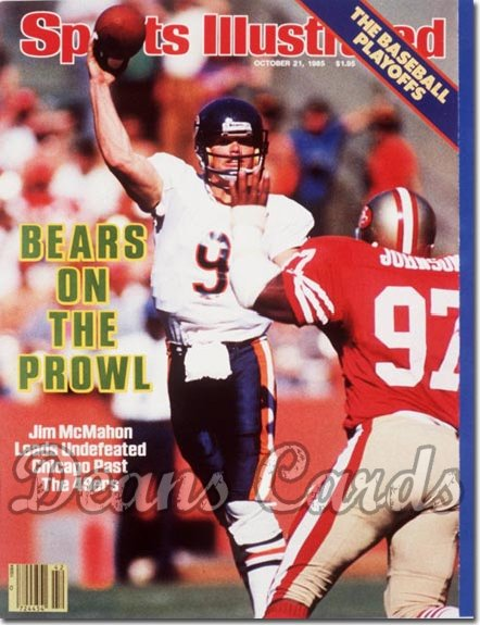 1985 Sports Illustrated - With Label   October 21  -  Jim Mc Mahon (Chicago Bears)