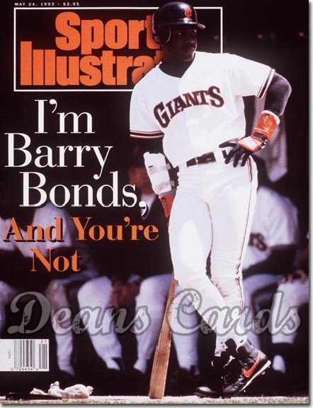 1993 Sports Illustrated - With Label   May 24  -  Barry Bonds SF Giants