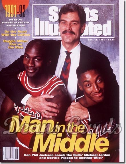 1991 Sports Illustrated   November 11  -  Michael Jordan Scottie Pippen & Phil Jackson (Bulls)