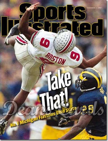 1997 Sports Illustrated - With Label   December 1  -  David Boston (Ohio State Buckeyes)