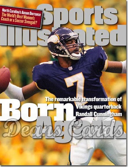 1998 Sports Illustrated - With Label   December 7  -  Randall Cunningham Minnesota Vikings