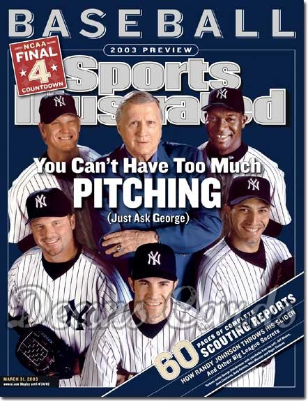 2003 Sports Illustrated   March 31  -  Yankees Steinbrenner Petitte Mussina Clemens
