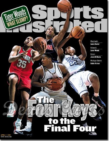 2001 Sports Illustrated   April 2  -  Woods / Baxter / Williams / Hutson (Final Four)