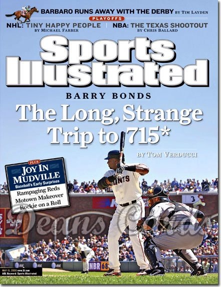 2006 Sports Illustrated   May 15  -  Barry Bonds SF Giants no.2