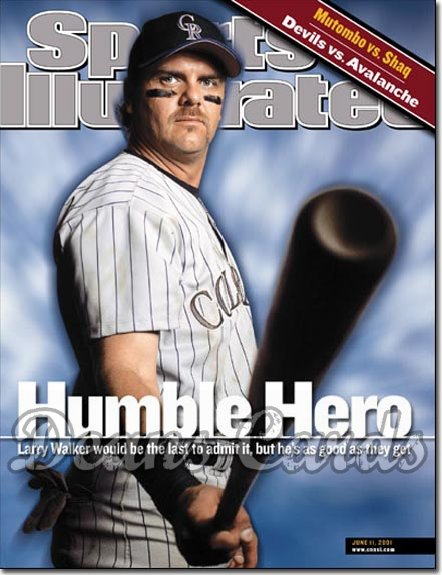 2001 Sports Illustrated   June 11  -  Larry Walker (Colorado Rockies)