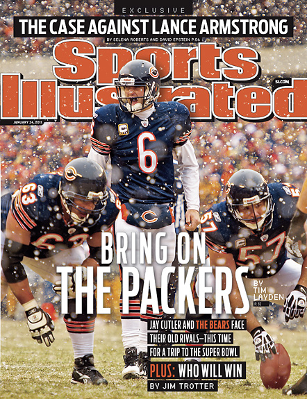 2011 Sports Illustrated - With Label   January 24  -  Jay Cutler