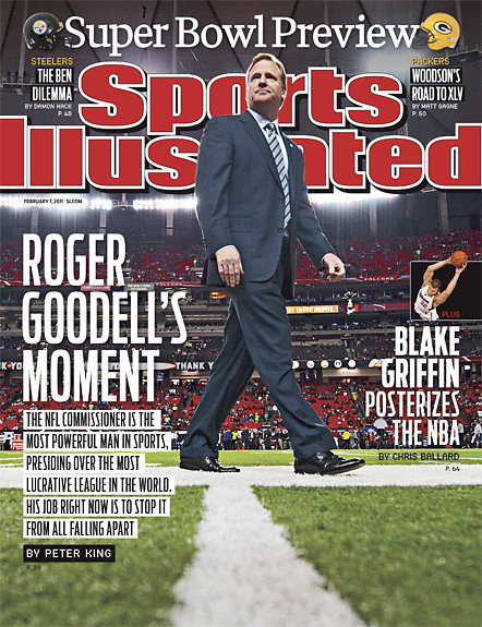 2011 Sports Illustrated - With Label   February 7  -  Roger Goodell / Super Bowl XLV Preview