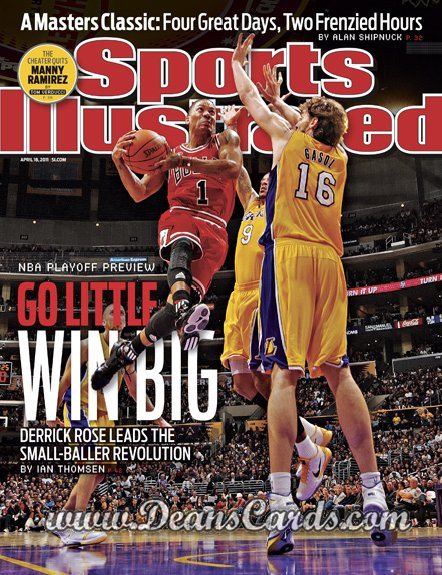 2011 Sports Illustrated   April 18  -  Derrick Rose / Paul Gasol