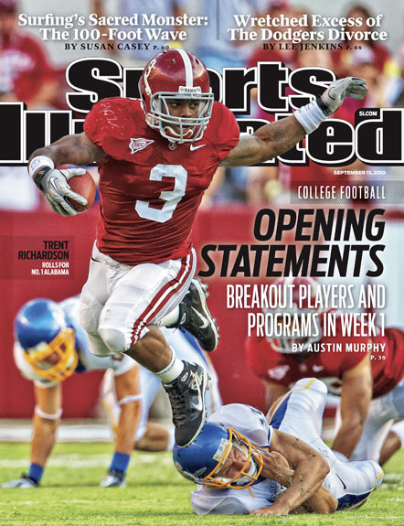 2010 Sports Illustrated   September 13  -  Trent Richardson: Alabama