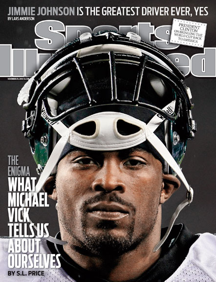 2010 Sports Illustrated - With Label   November 29  -  Michael Vick