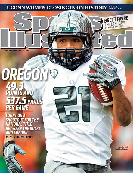 2010 Sports Illustrated   December 13  -  LaMichael James / Oregon / 2011 National Title Preview