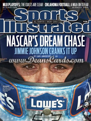 2011 Sports Illustrated - With Label   October 17  -  Jimmie Johnson / Nascar's Dream Chase