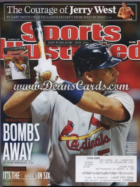 2011 Sports Illustrated   October 24  -  Albert Pujols / Bombs Away /  World Series