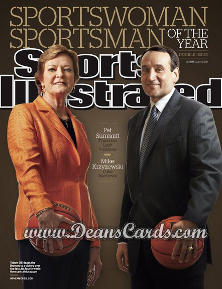 2011 Sports Illustrated   December 12  -  Pat Summitt / Mike Krzyzewski / Sportsman