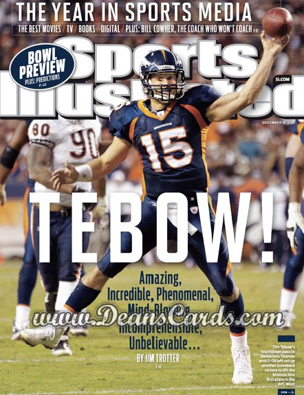 2011 Sports Illustrated   December 19  -  Tim Tebow / Tebow! / Denver Broncos