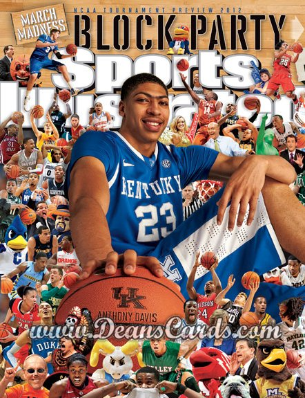 2012 Sports Illustrated - With Label   March 19  -  Anthony Davis / Kentucky Wildcats / March Madness