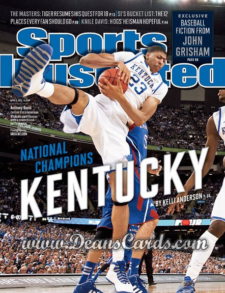 2012 Sports Illustrated   April 9  -  Anthony Davis / Kentucky Wildcats / National Champions