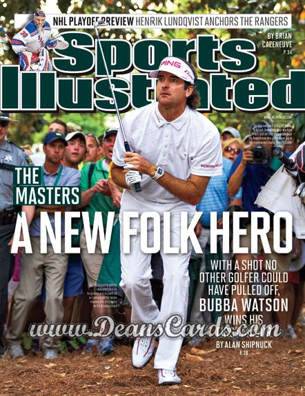 2012 Sports Illustrated   April 16  -  Bubba Watson /  Masters / A New Folk Hero