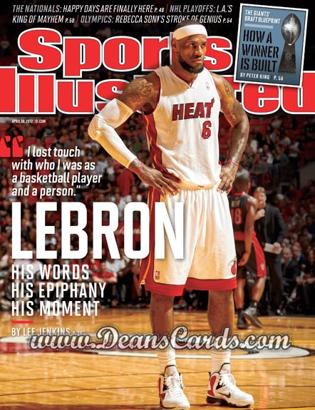 2012 Sports Illustrated   April 30  -  Lebron James / Miami Heat / Lebron
