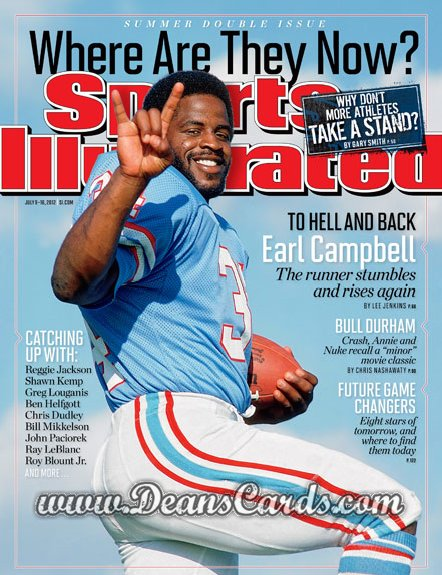 2012 Sports Illustrated   July 6  -  Earl Campbell / Houston Oilers / Where are they Know?
