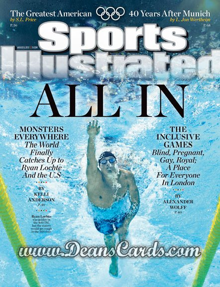 2012 Sports Illustrated   August 6  -  Ryan Lochte / All In /  London Olympics