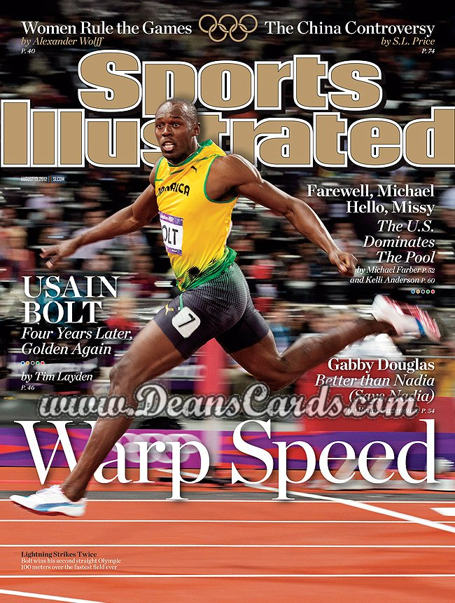2012 Sports Illustrated   August 13  -  Usain Bolt / Warp Speed /  London Olympics