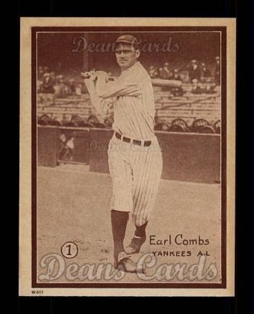 1931 W517 Reprint #1  Earle Combs