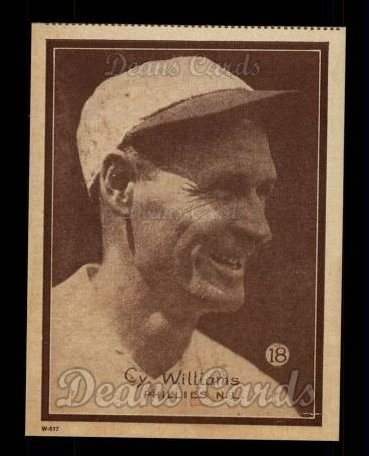 1931 W517 Reprint #18  Cy Williams